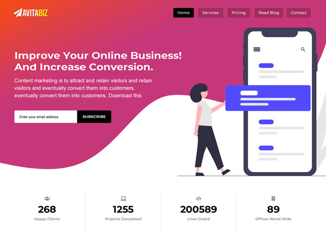 Bootstrap Business Landing Page