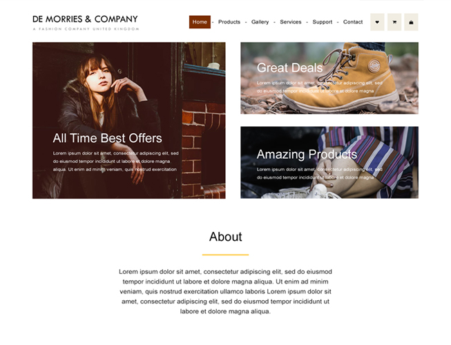 Ecommerce Bootstrap Landing Page Template
