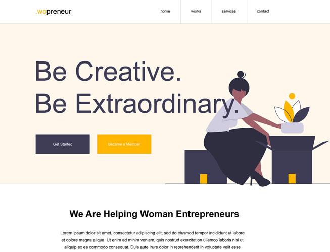 Entrepreneur Landing Page Template