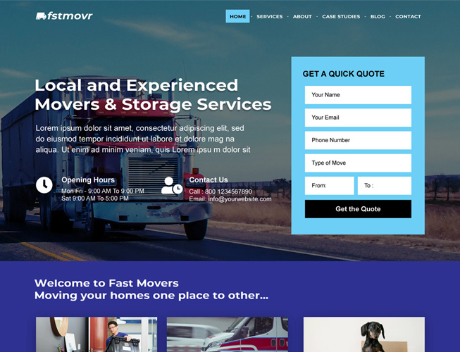 Moving Company Landing Page