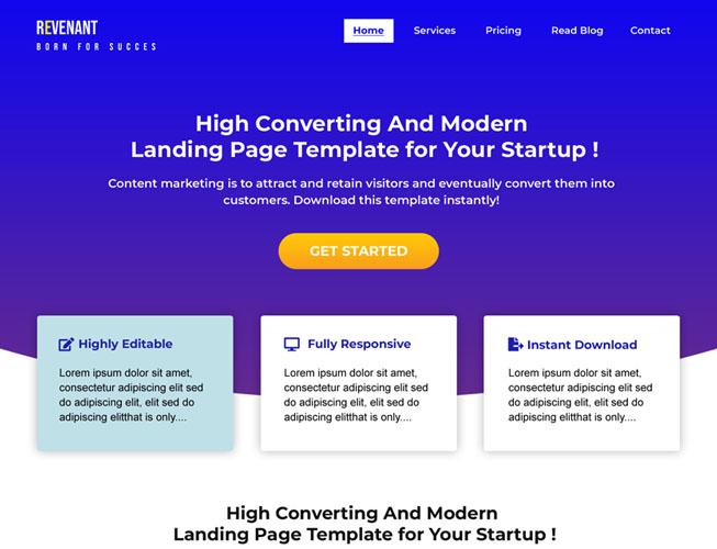 Multipurpose Startup Landing Page