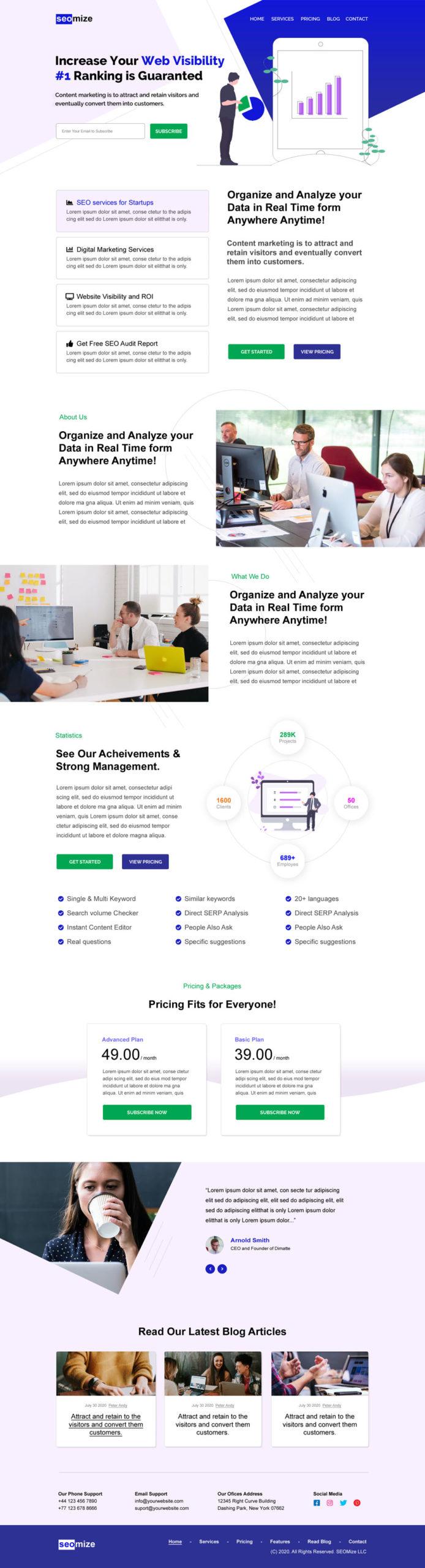 SEO Startup Landing Page