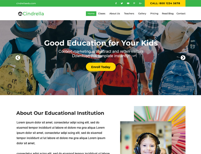 School Education Landing Page