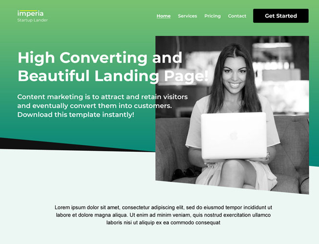 Simple Startup Landing Page