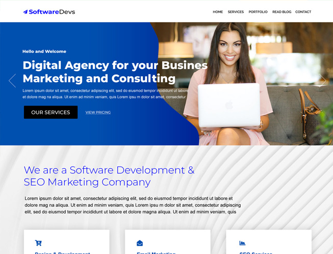 Software Services Landing Page