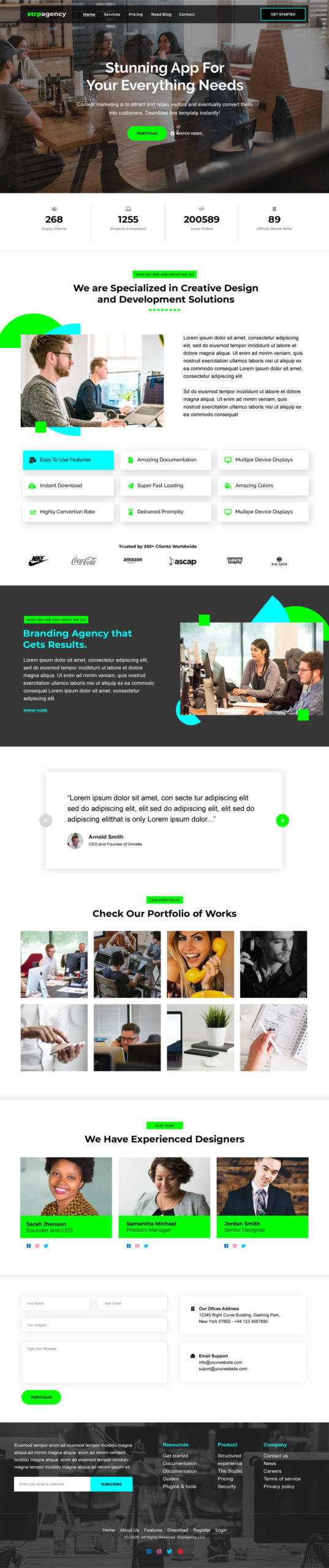 Startup Agency Landing Page