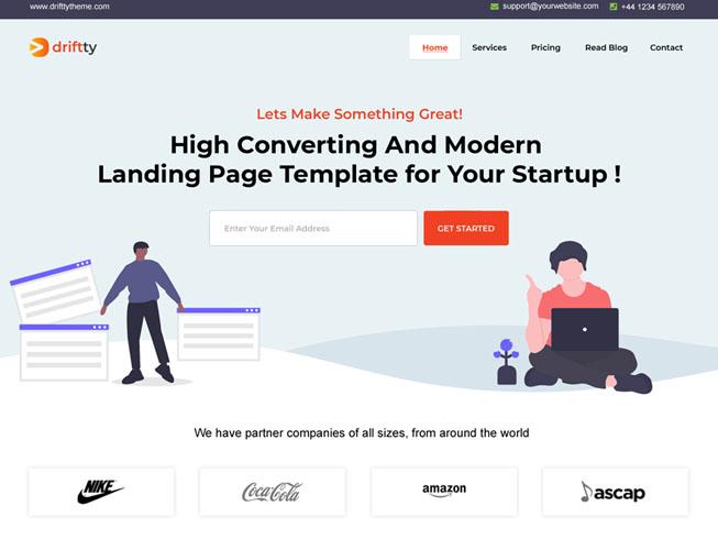 Tech Startup Landing Page