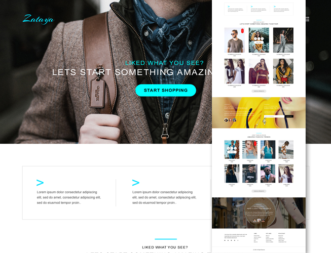 Fashion & Clothing Bootstrap Template