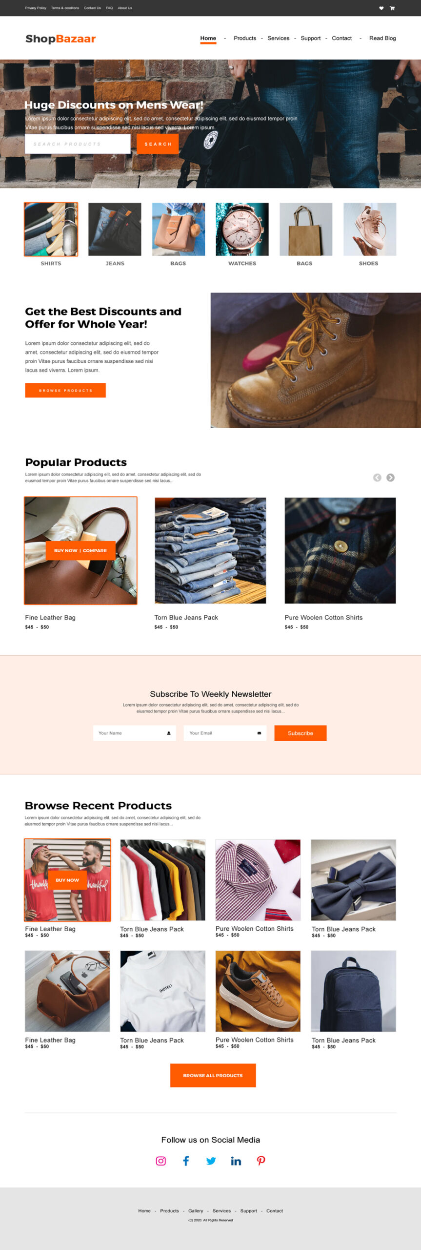 Woo Commerce Products Landing Page_s