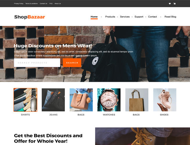 Woo Commerce Products Landing Page